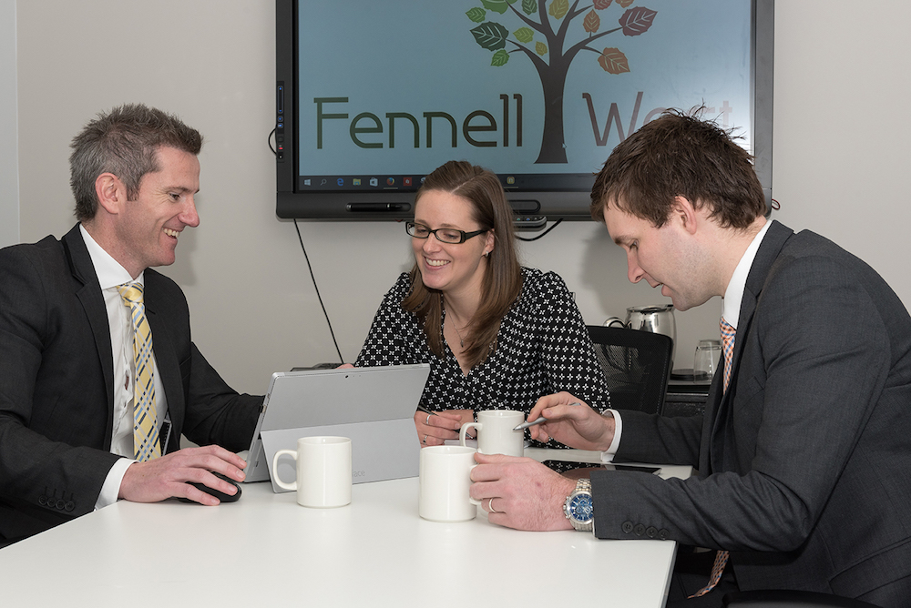 Fennell West directors Shane West (left), Ryan Fennell (right) and Operations Manager Amanda Fisher.